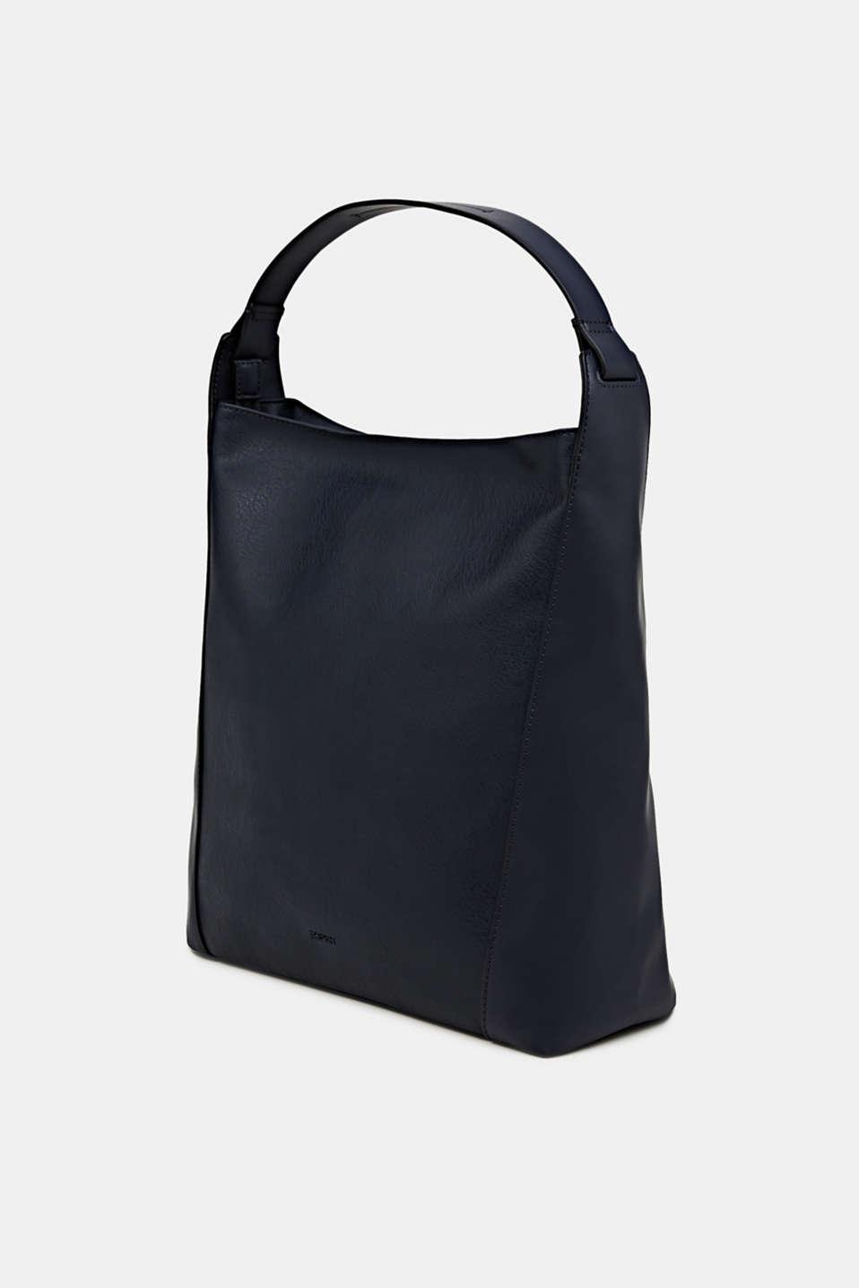 Material mix shoulder bag, vegan, NAVY, detail image number 2