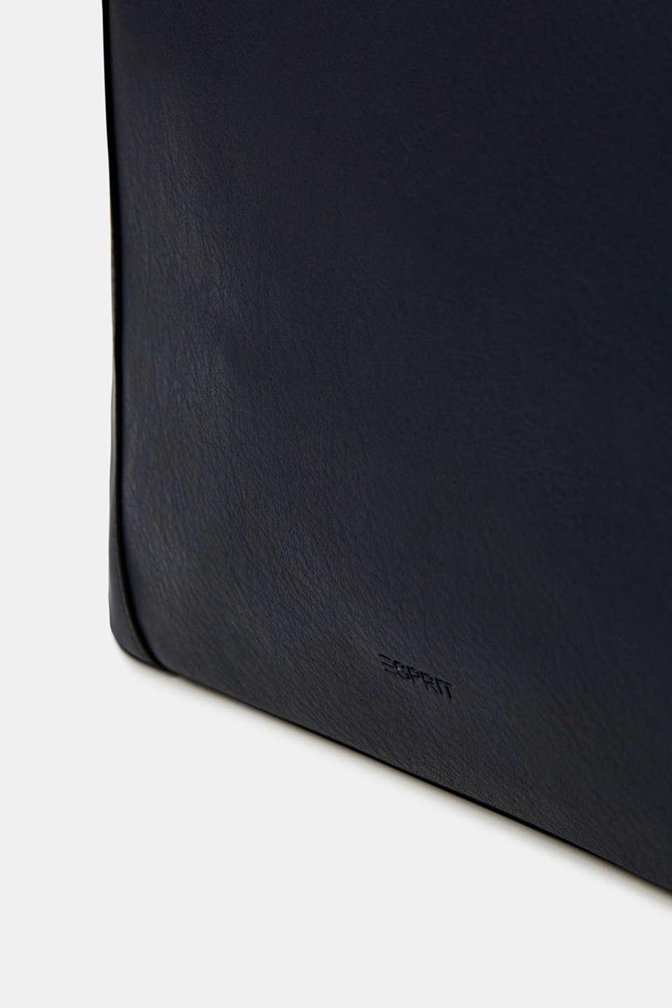 Material mix shoulder bag, vegan, NAVY, detail image number 5