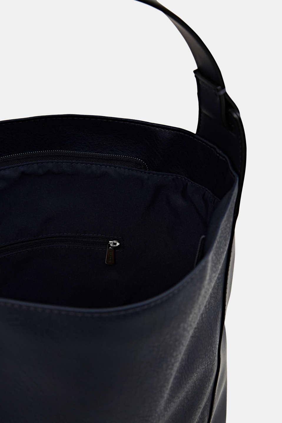 Material mix shoulder bag, vegan, NAVY, detail image number 4