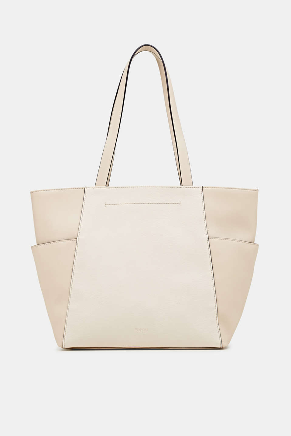 Material mix shopper, vegan, CREAM BEIGE, detail image number 0
