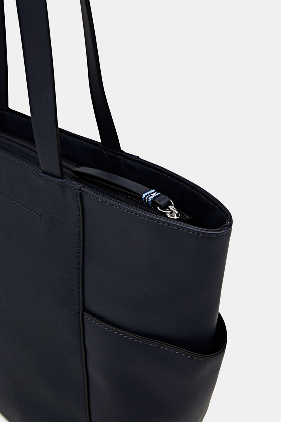 Material mix shopper, vegan, NAVY, detail image number 3