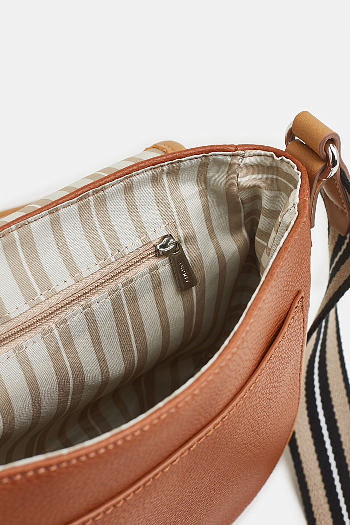Borsa a tracolla Susie T., vegan, RUST BROWN, detail image number 4