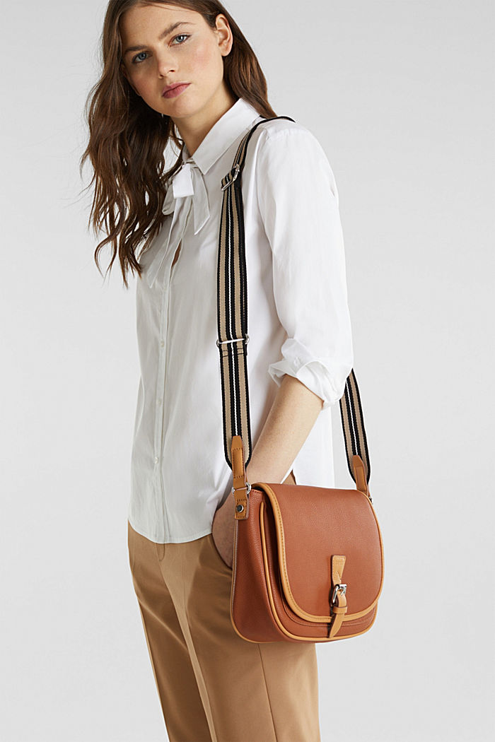 Borsa a tracolla Susie T., vegan, RUST BROWN, detail image number 1