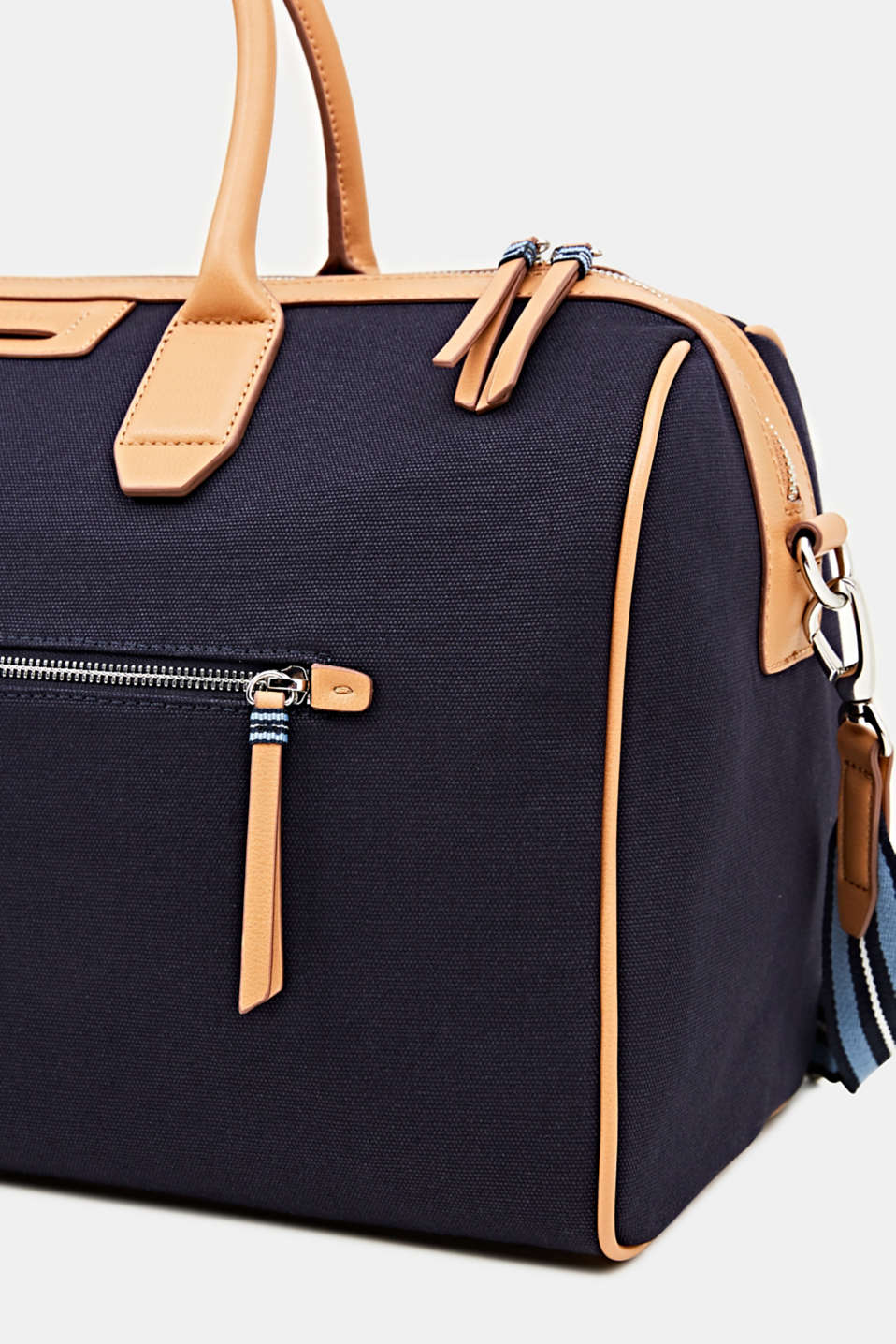 Adjustable canvas weekender, NAVY, detail image number 3