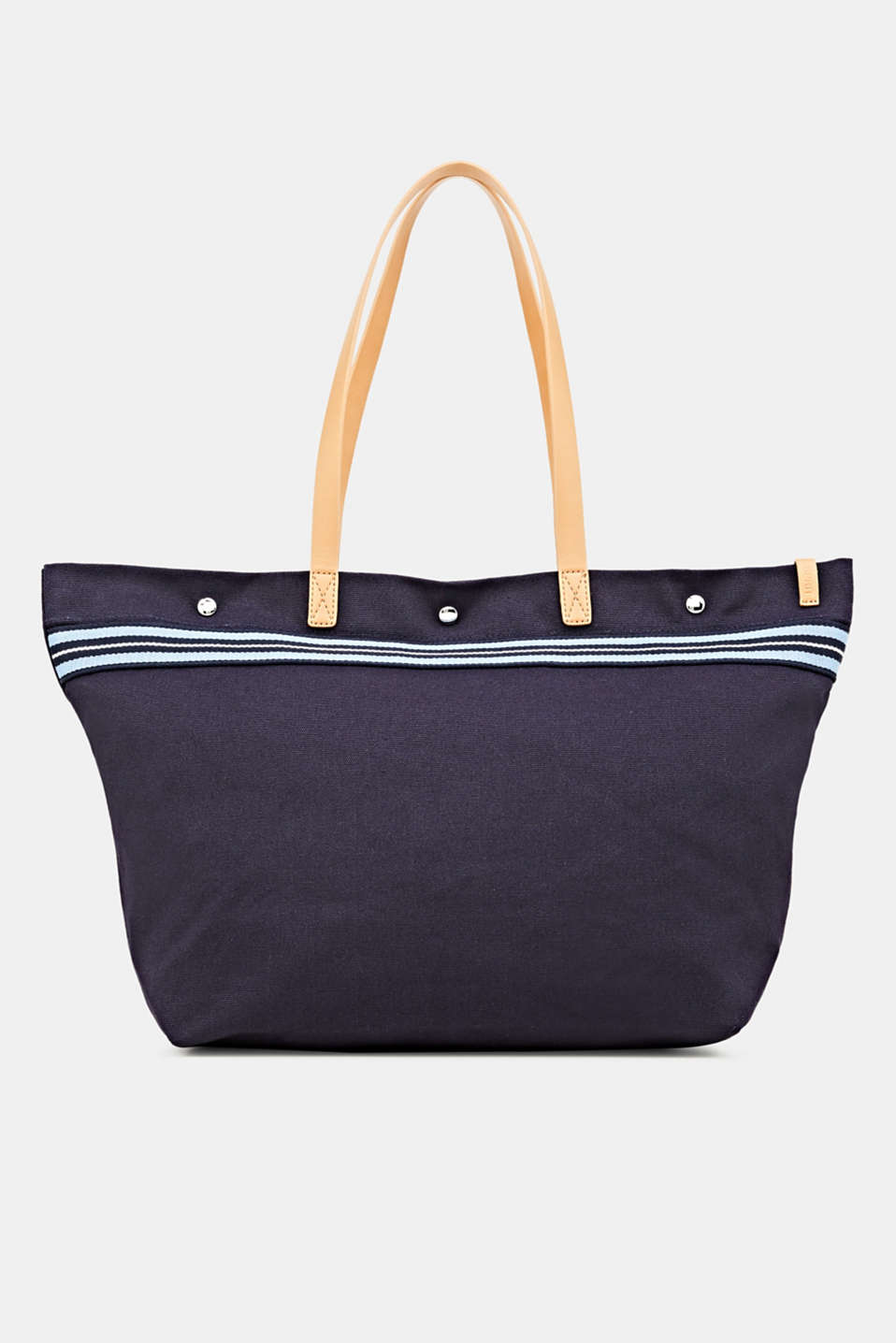 Esprit - Canvas shopper with woven tape trim