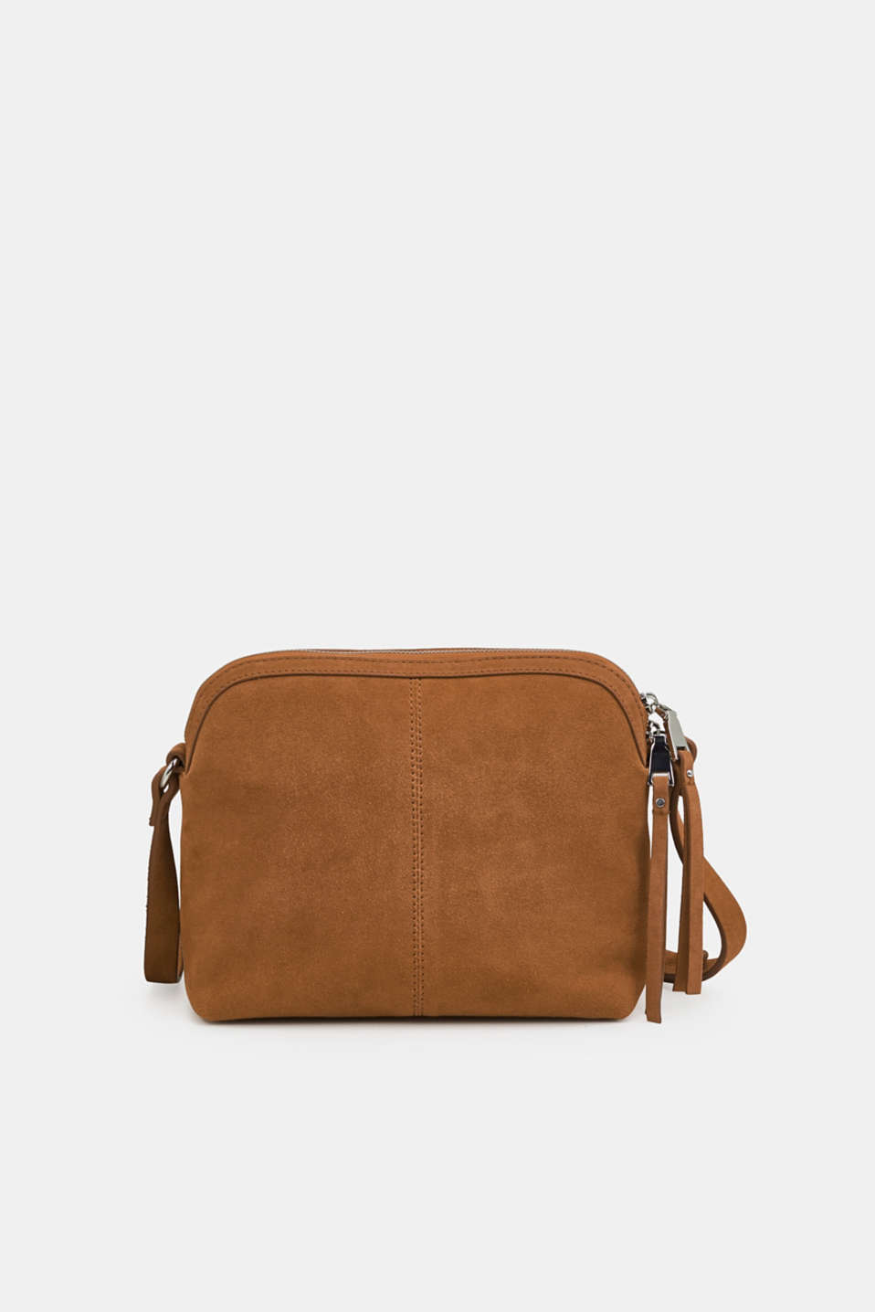 Suede shoulder bag, RUST BROWN, detail image number 0
