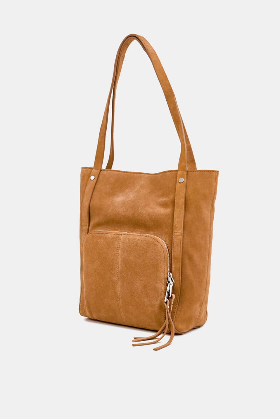 Leather tote bag, RUST BROWN, detail image number 2