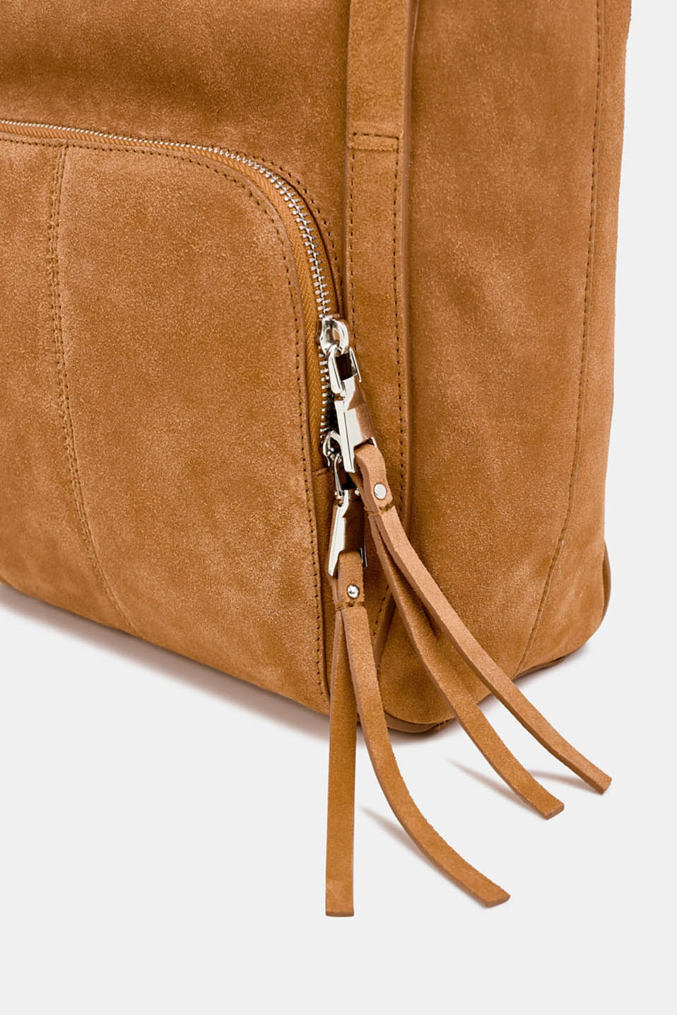 Leather tote bag, RUST BROWN, detail image number 6