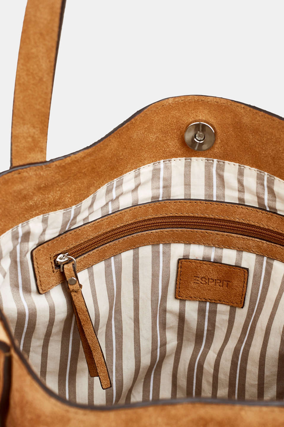 Leather tote bag, RUST BROWN, detail image number 4
