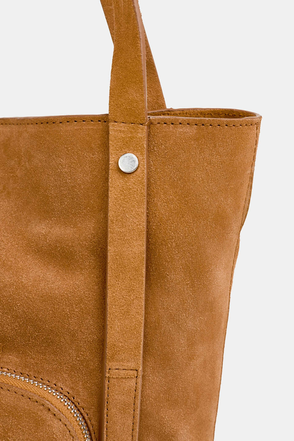 Leather tote bag, RUST BROWN, detail image number 3