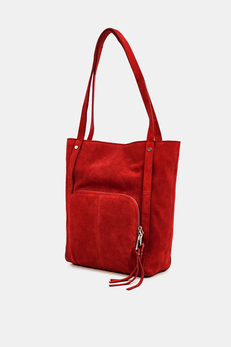 Leather tote bag, RED, detail image number 2