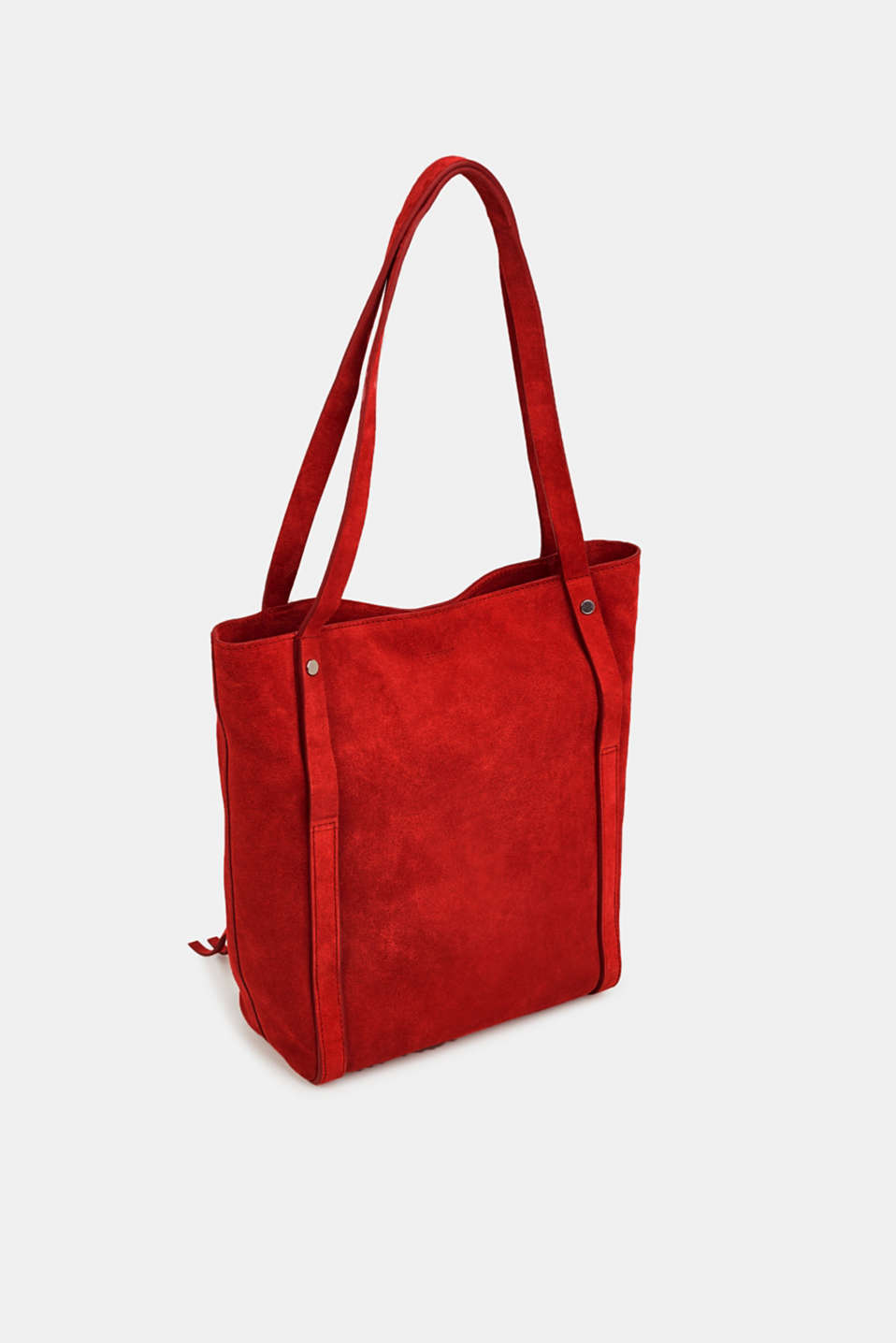 Leather tote bag, RED, detail image number 4