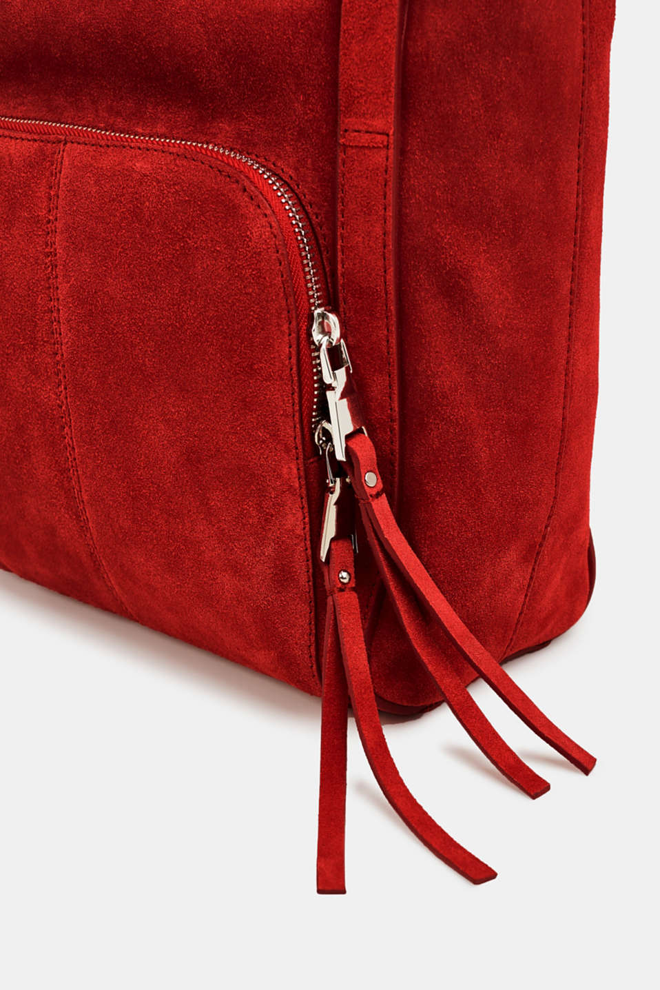 Leather tote bag, RED, detail image number 5