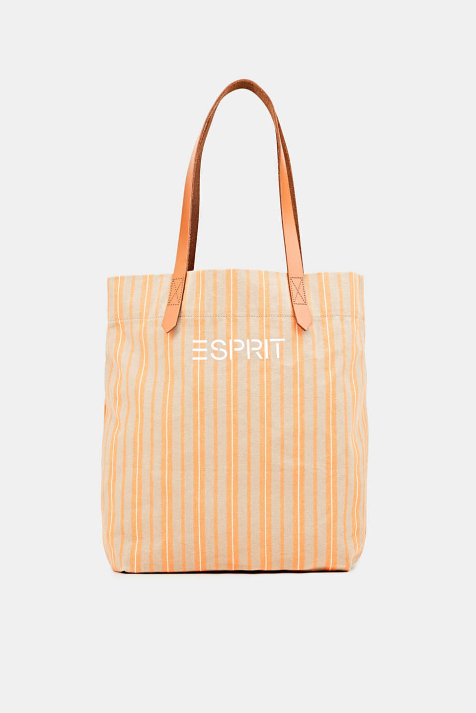 Esprit - Tote bag made of canvas with leather straps