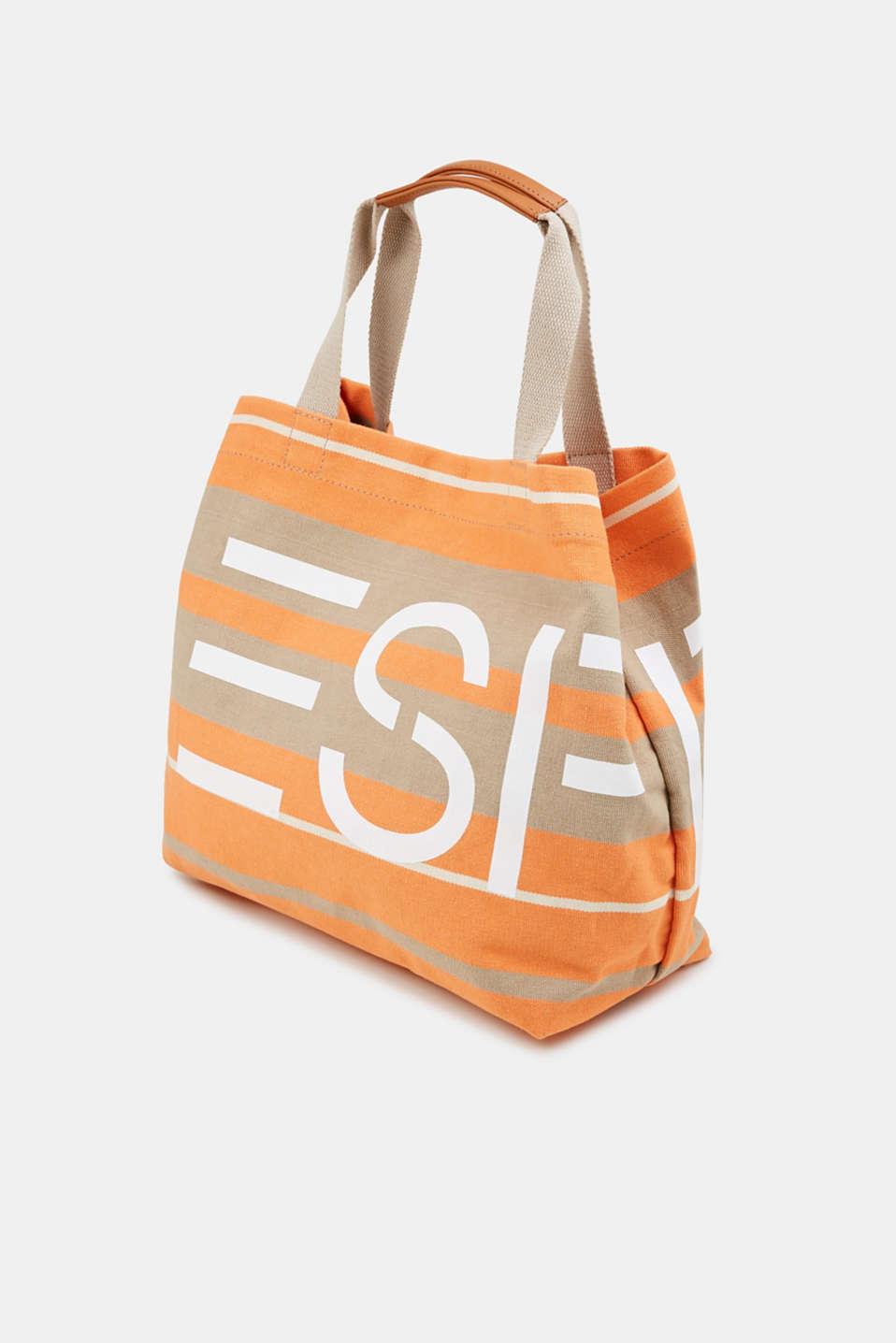 Logo print shopper, ORANGE, detail image number 2