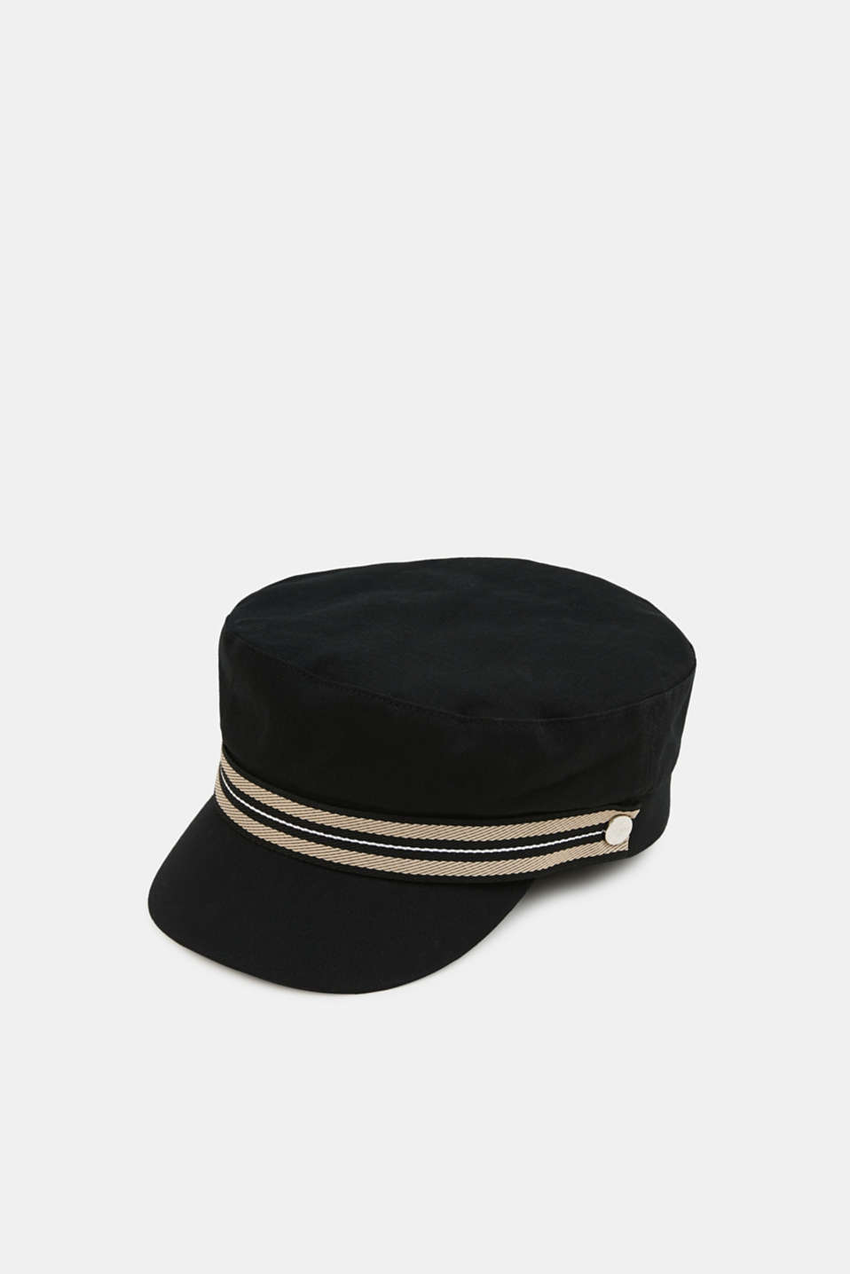 Sailor's cap made of 100% cotton, BLACK, detail image number 0