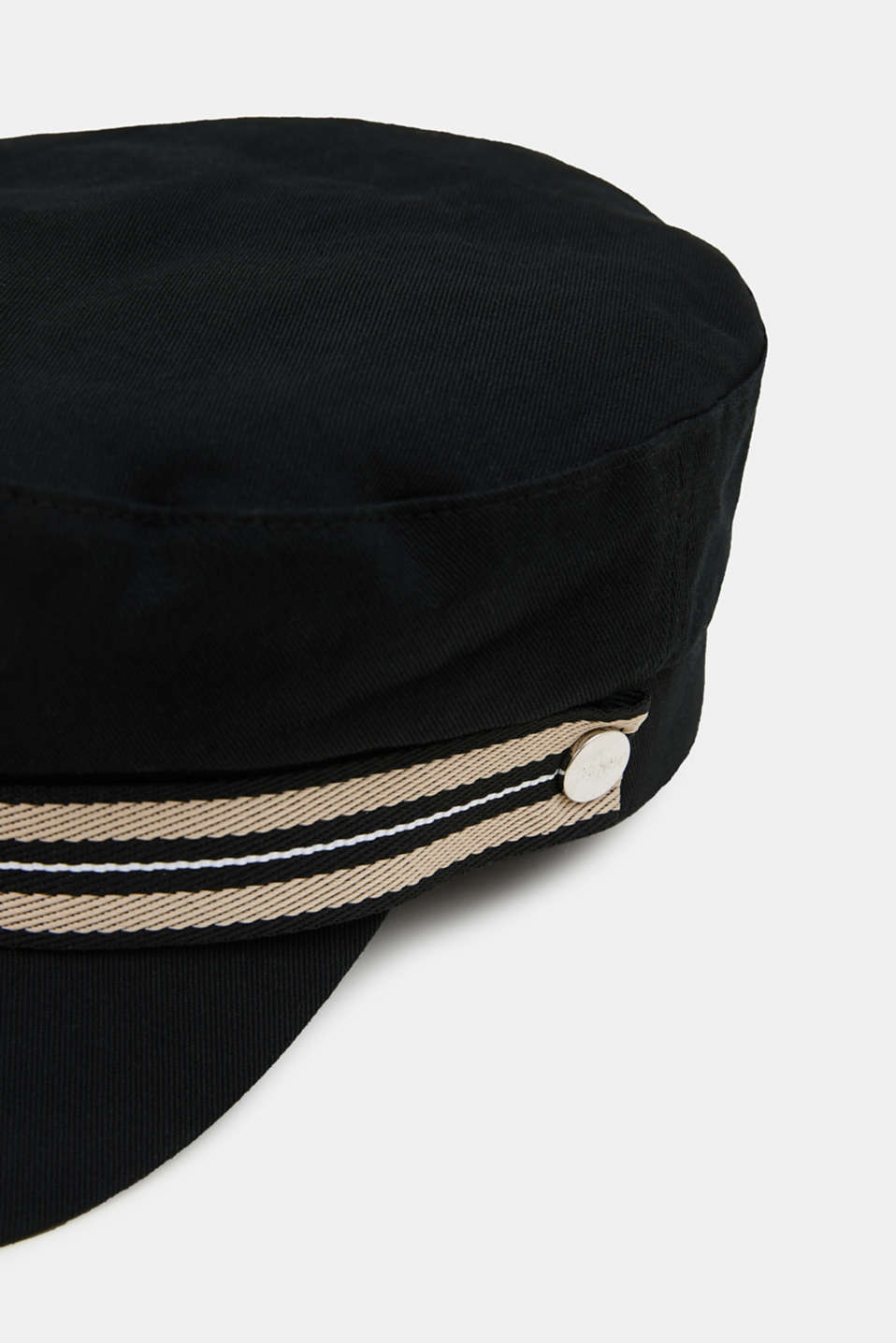 Sailor's cap made of 100% cotton, BLACK, detail image number 1