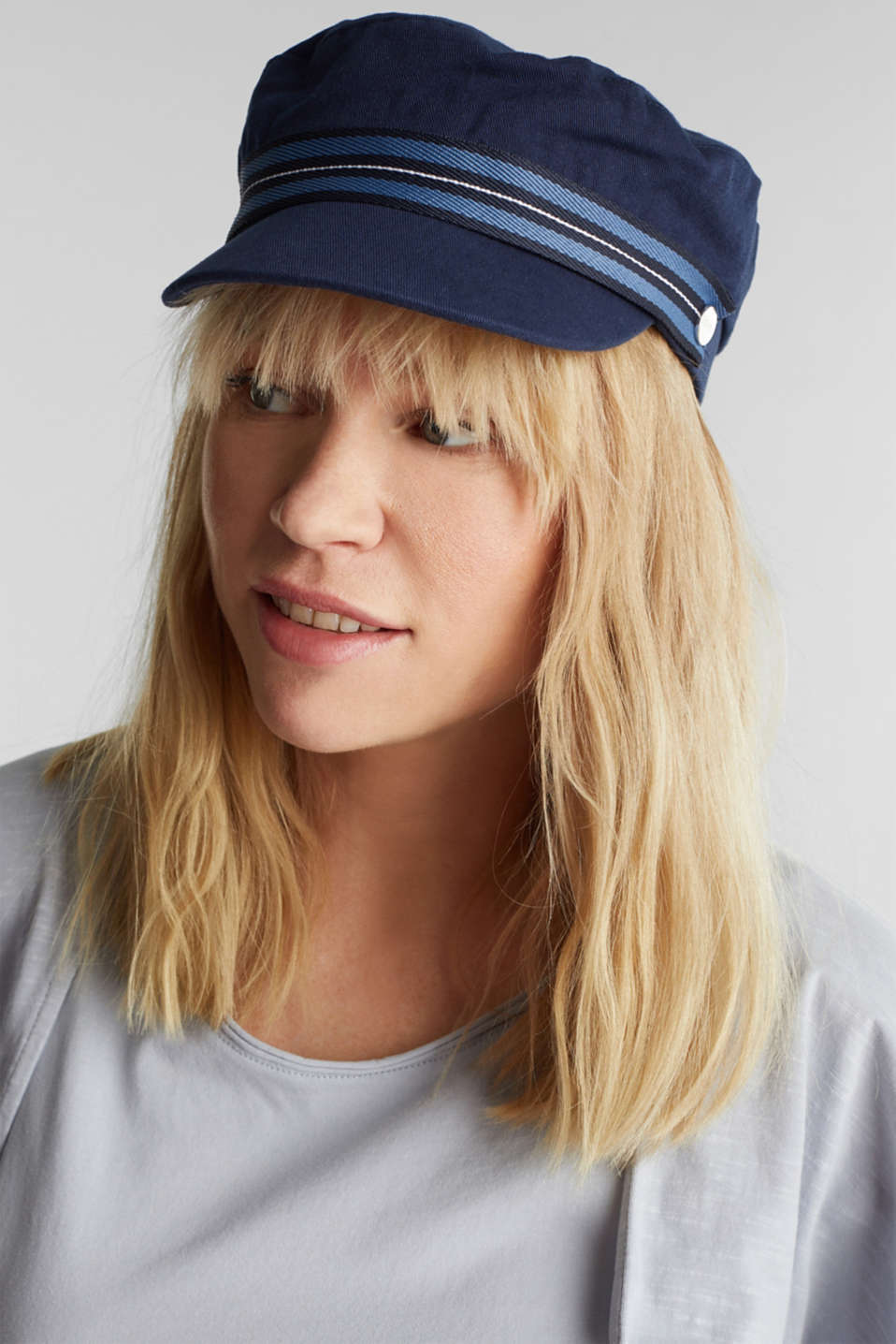 Sailor's cap made of 100% cotton, NAVY, detail image number 2