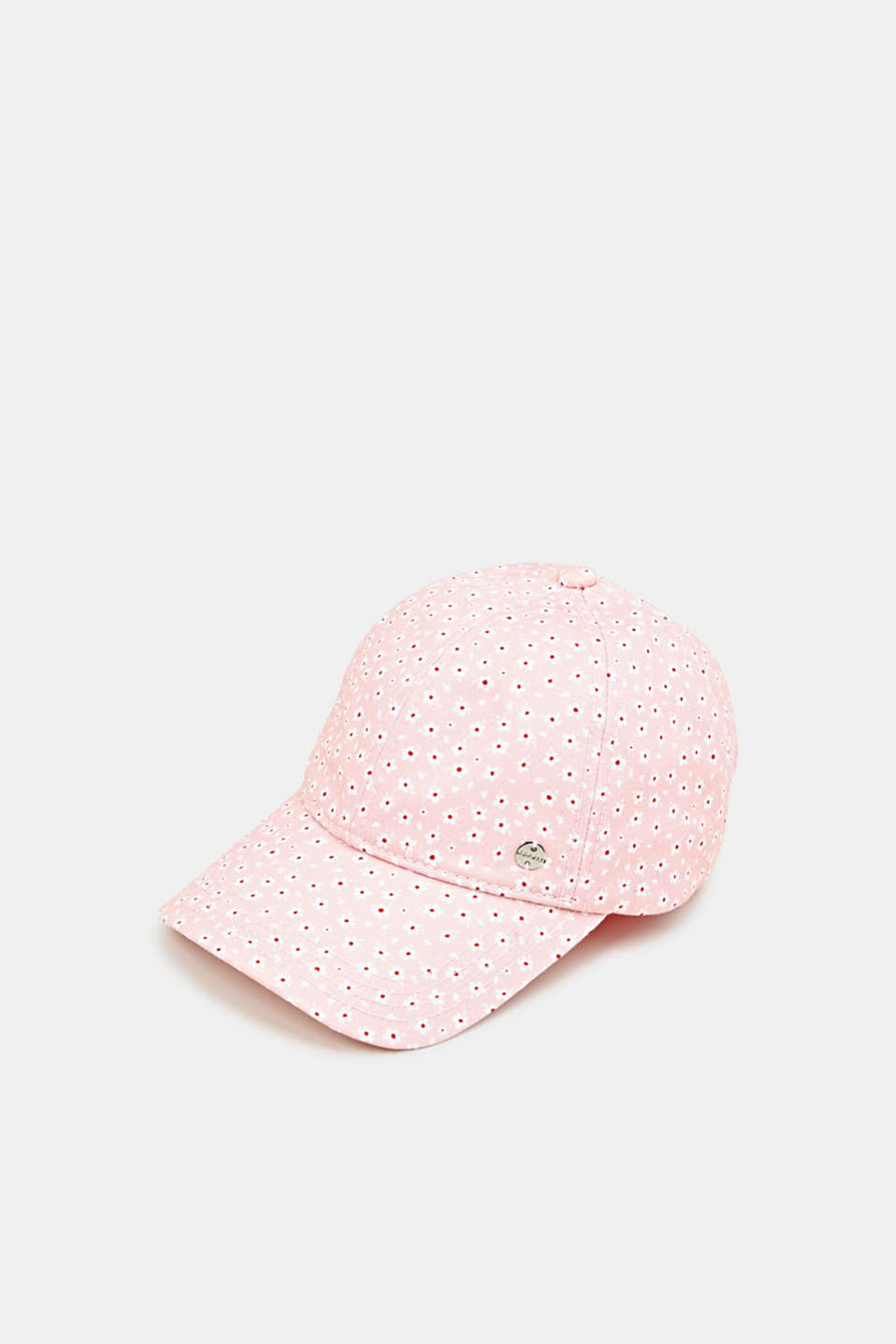 Esprit - Cap with a floral print, 100% cotton