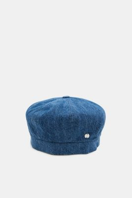 Denim beret in 100% cotton, NAVY, detail