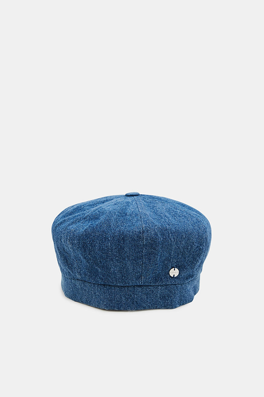 Denim beret in 100% cotton