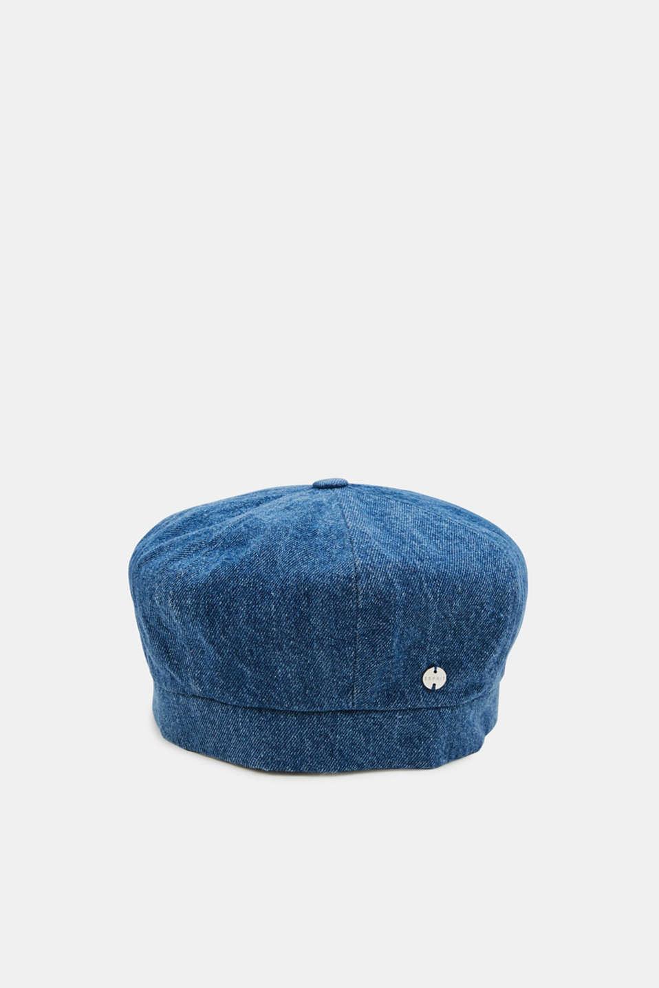 Denim beret in 100% cotton, NAVY, detail image number 0