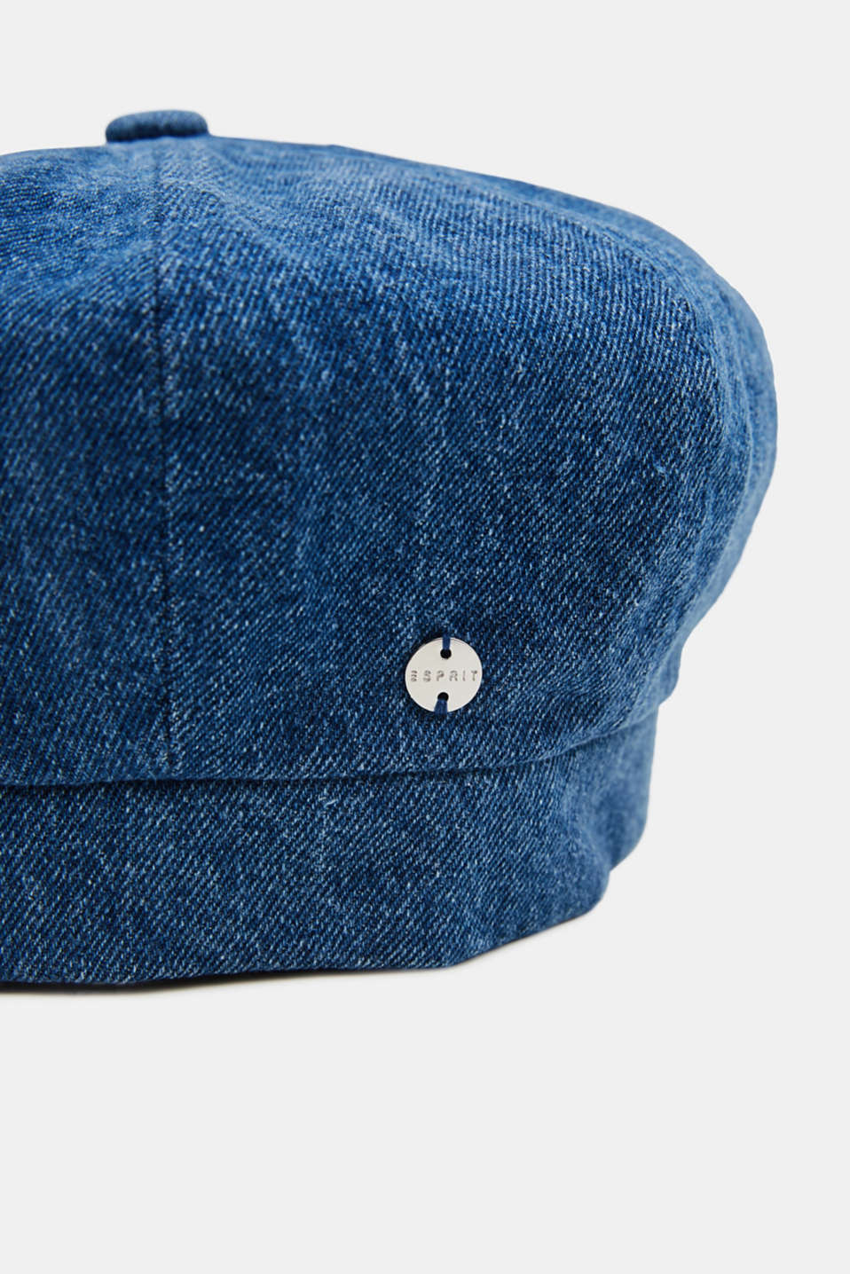 Denim beret in 100% cotton, NAVY, detail image number 1