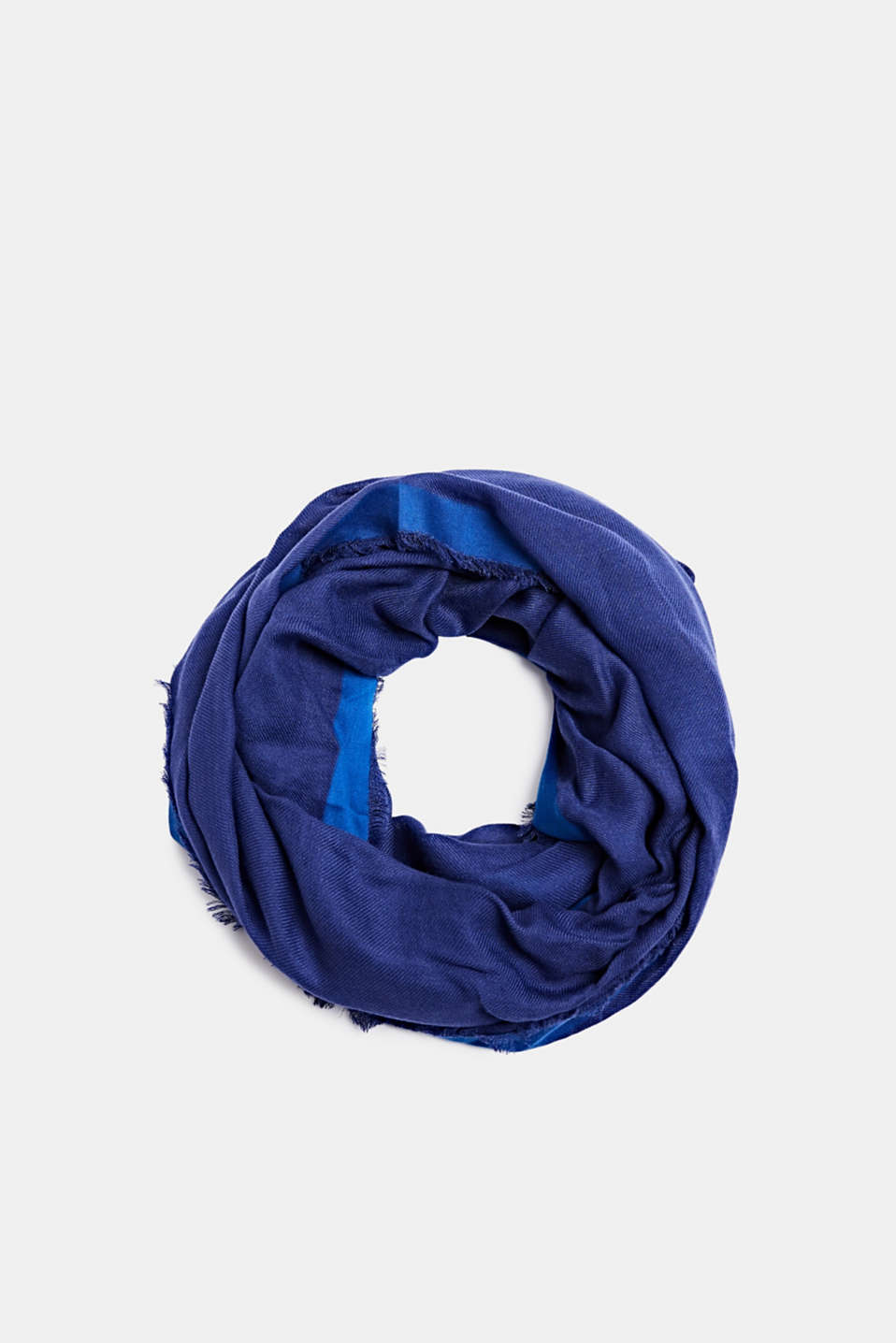 Snood containing LENZING™ ECOVERO™, NAVY, detail image number 0