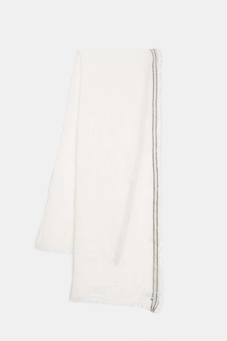 Esprit - Blended linen: scarf with a crinkle finish