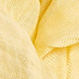 Blended linen: scarf with a crinkle finish, YELLOW, swatch