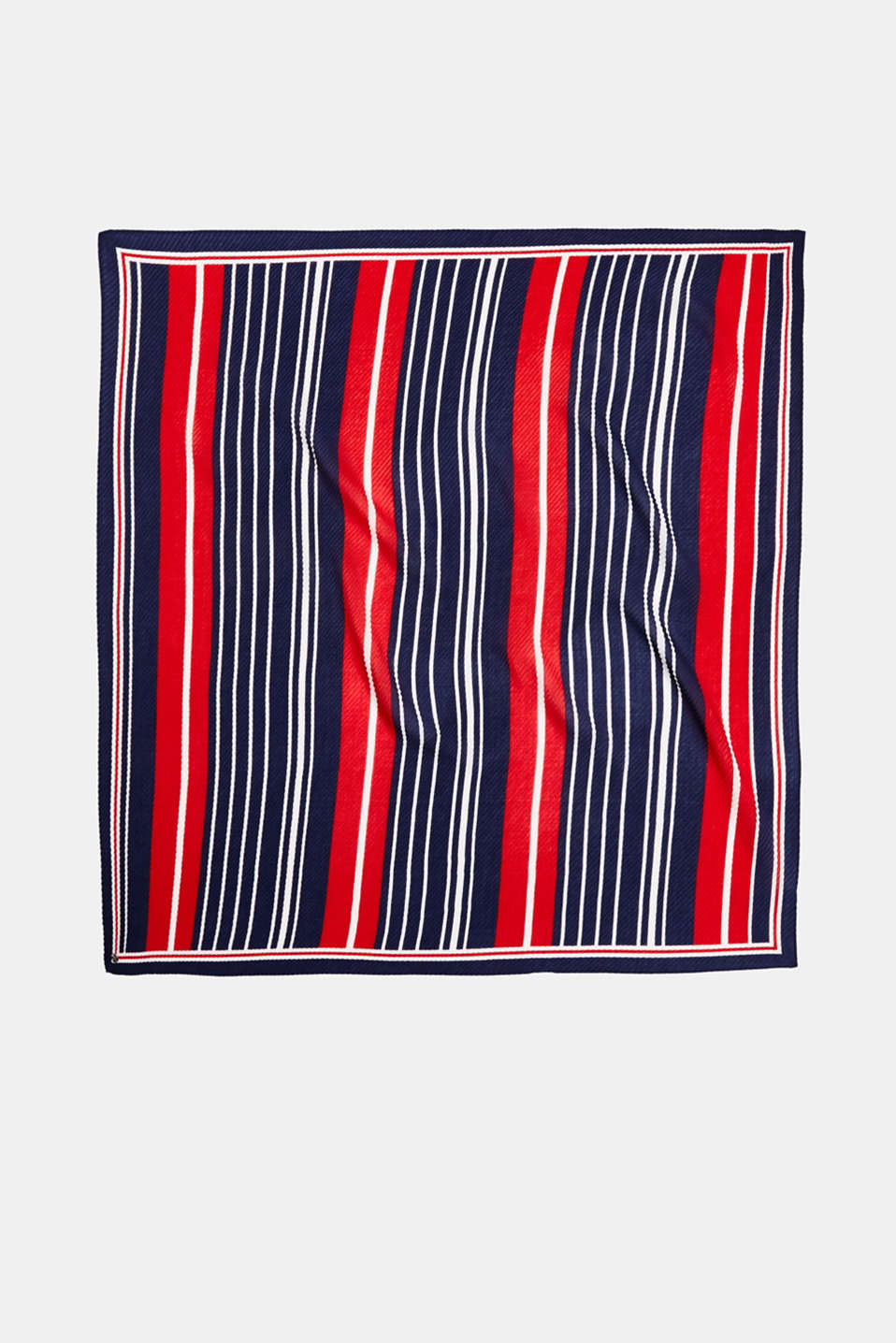 Pleated scarf with stripes, NAVY, detail image number 3