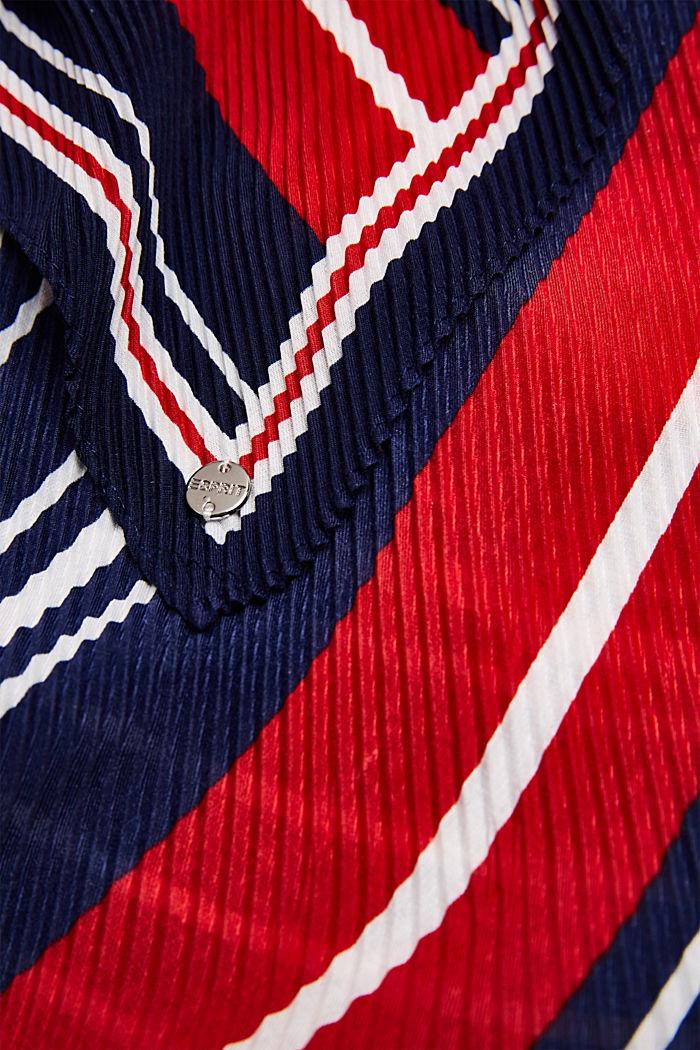 Plissee-Tuch mit Streifen-Dessin, NAVY, detail image number 1