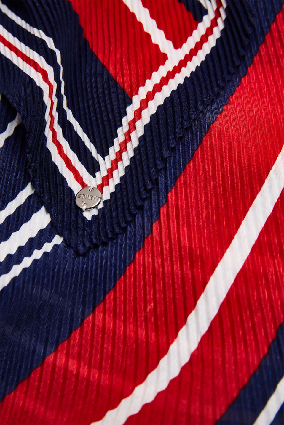 Pleated scarf with stripes, NAVY, detail image number 2