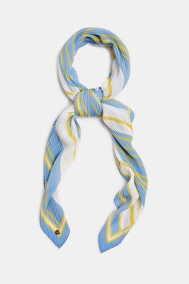 Pleated scarf with stripes, LIGHT BLUE, detail