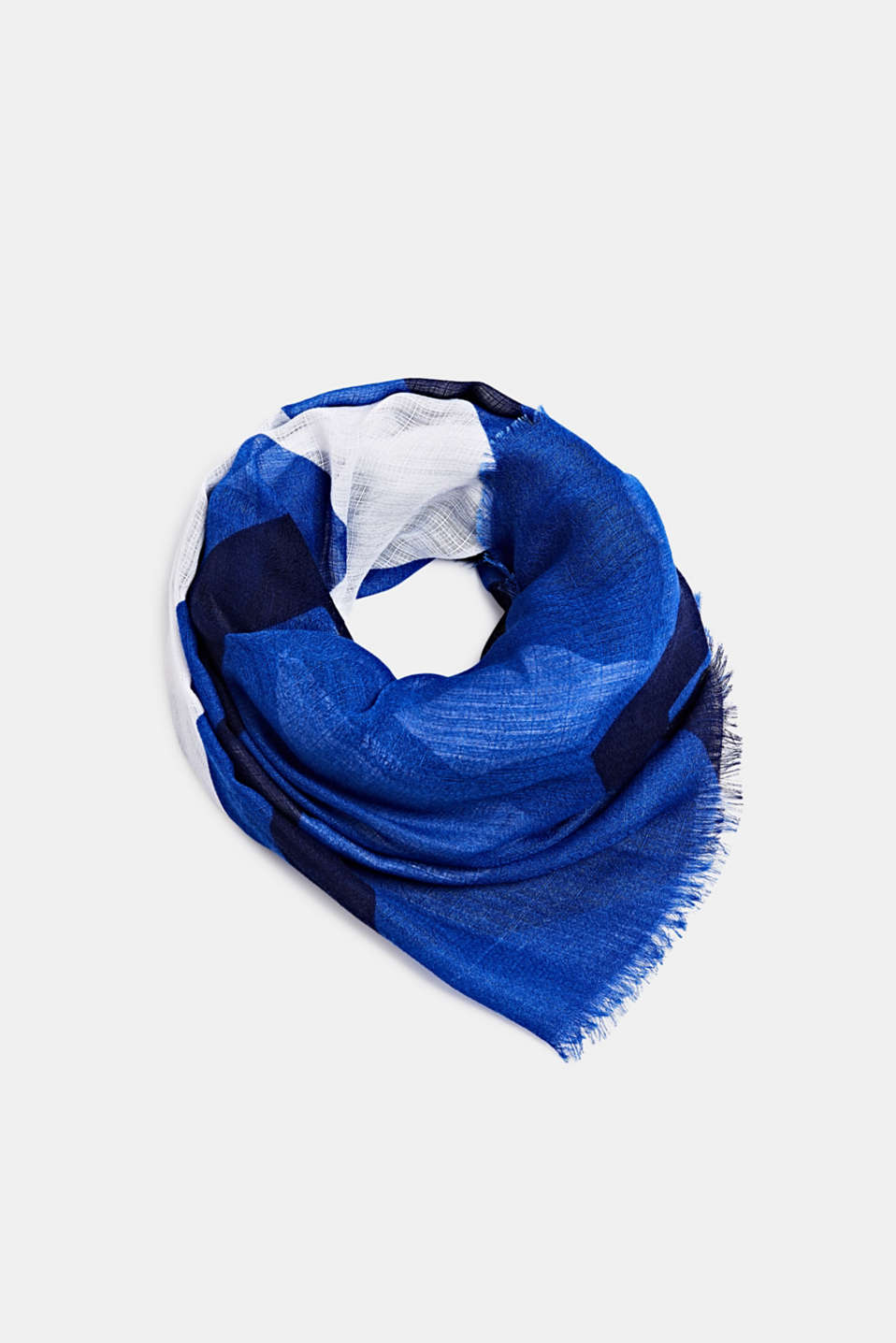 Scarf made of recycled material, BRIGHT BLUE, detail image number 0