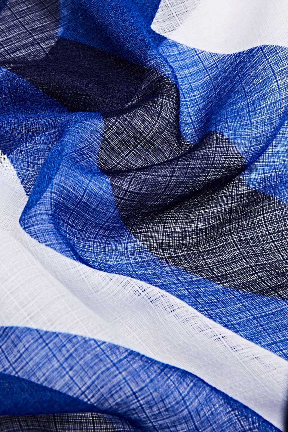 Scarf made of recycled material, BRIGHT BLUE, detail image number 2