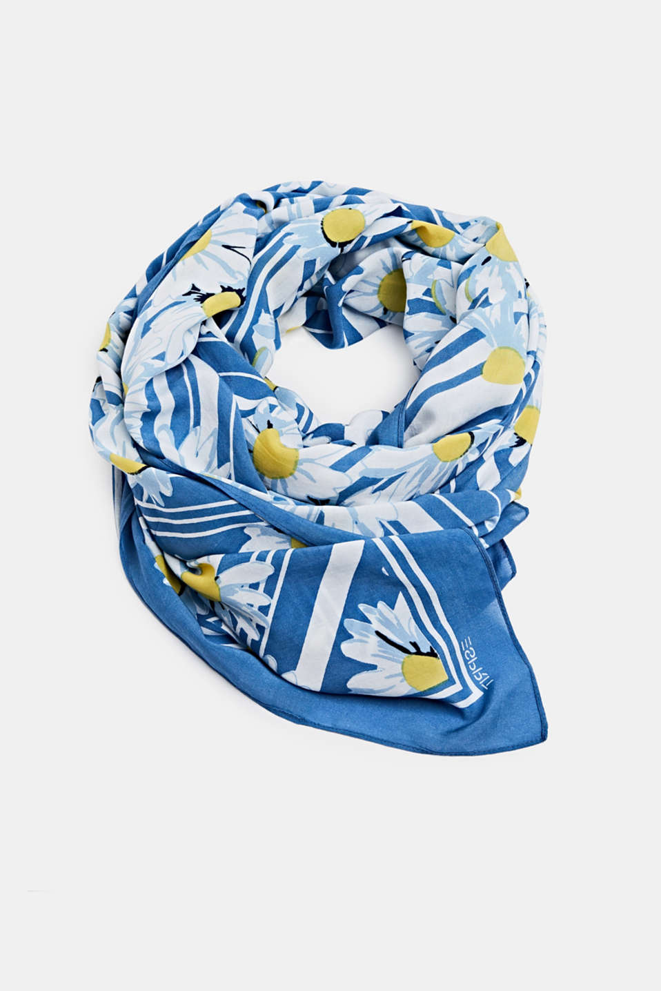 Scarf with LENZING™ ECOVERO™, BRIGHT BLUE, detail image number 0