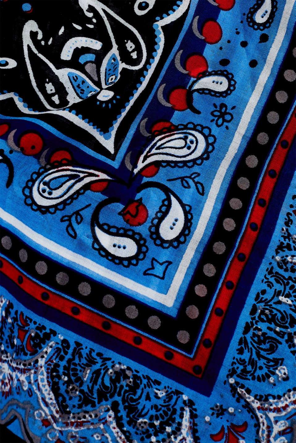 Bandana with a paisley print, 100% cotton, NAVY, detail image number 2