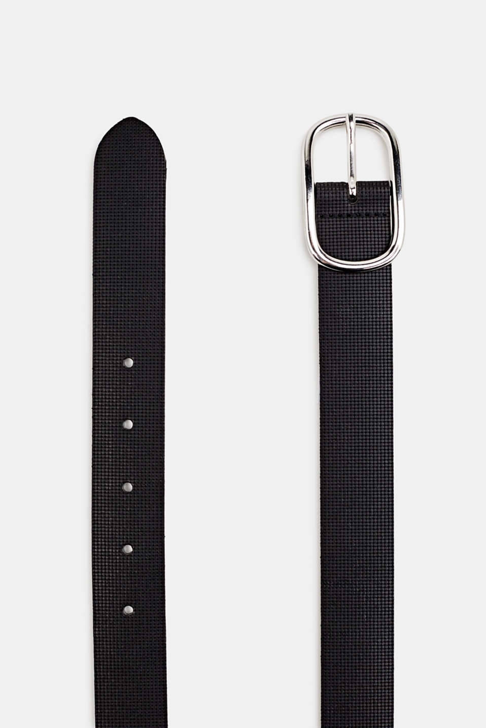 Perforated leather belt, BLACK, detail image number 1