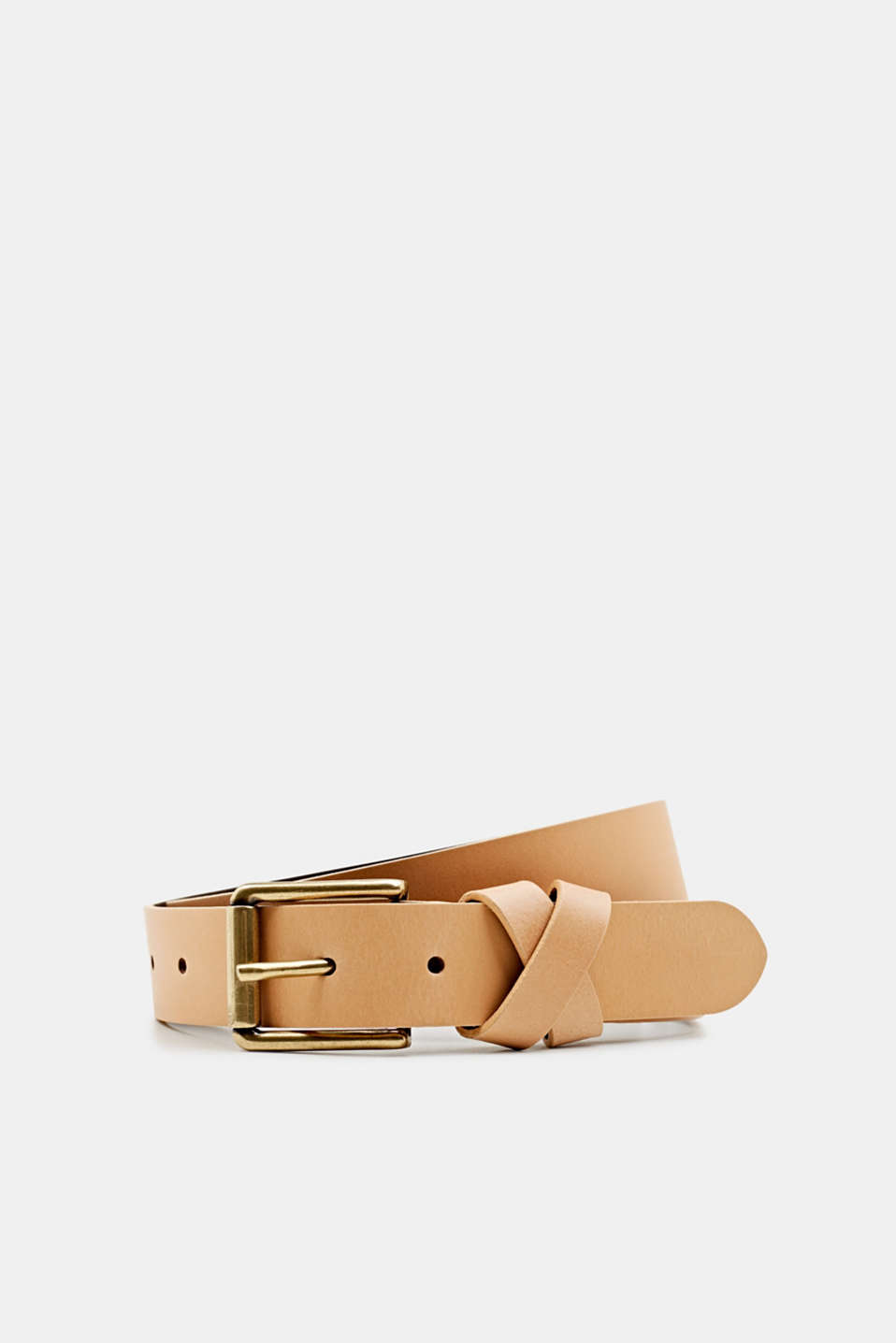 Esprit - Made of leather: belt with a crossed-over loop