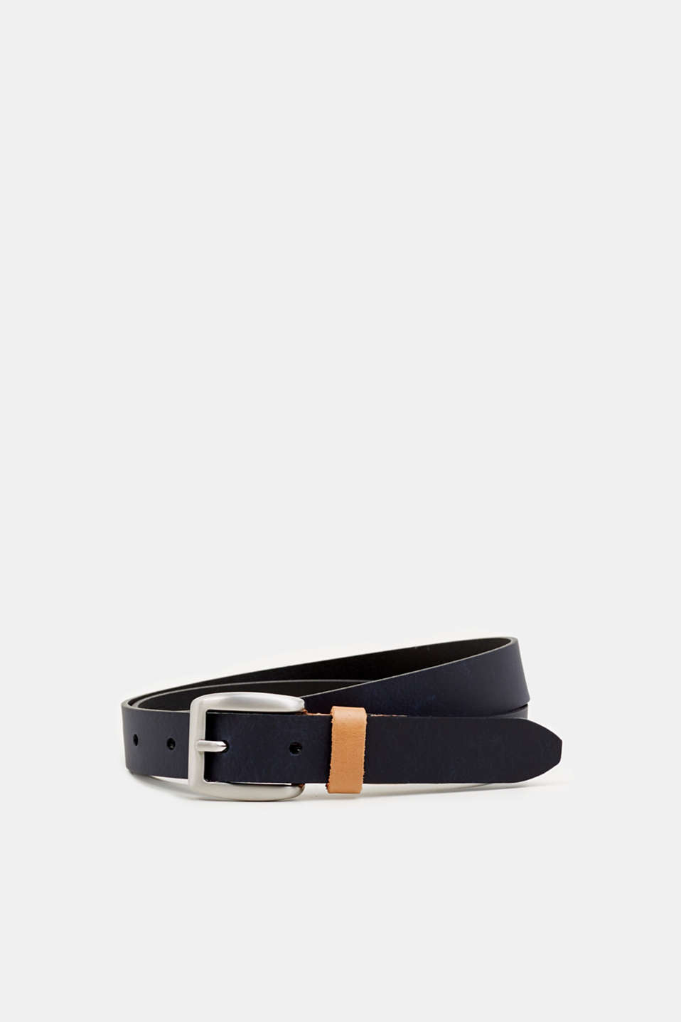 Susie T. range: cowhide leather belt, NAVY, detail image number 0