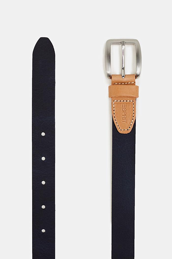 Susie T. range: cowhide leather belt, NAVY, detail image number 1