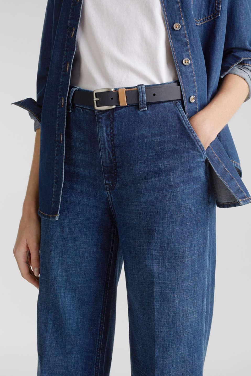 Susie T. range: cowhide leather belt, NAVY, detail image number 2