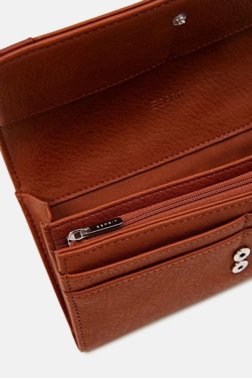 Faux leather purse, RUST BROWN, detail image number 1