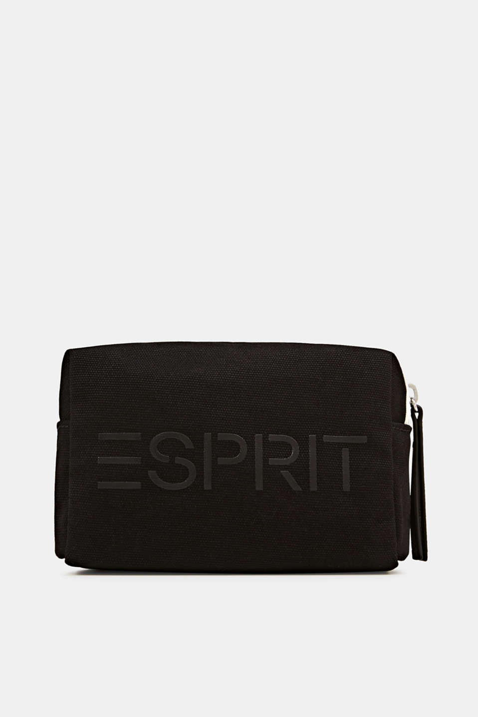 Beauty bag made of 100% cotton, BLACK, detail image number 0
