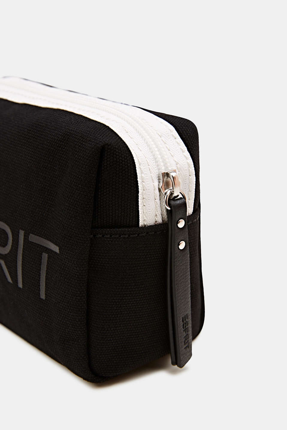 Beauty bag made of 100% cotton, BLACK, detail image number 1