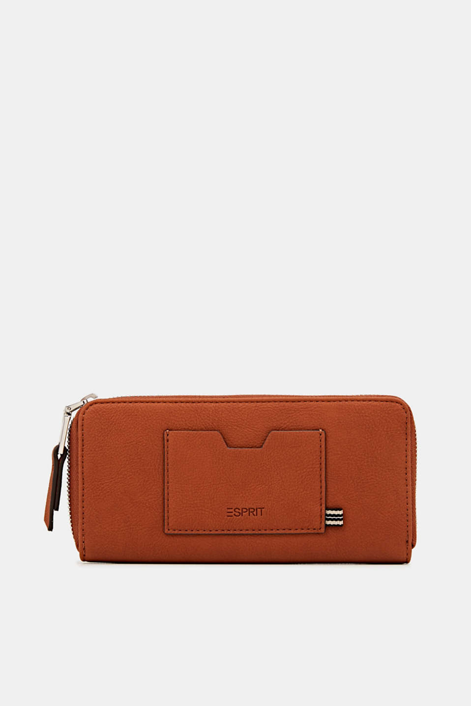 Faux leather purse, RUST BROWN, detail image number 0
