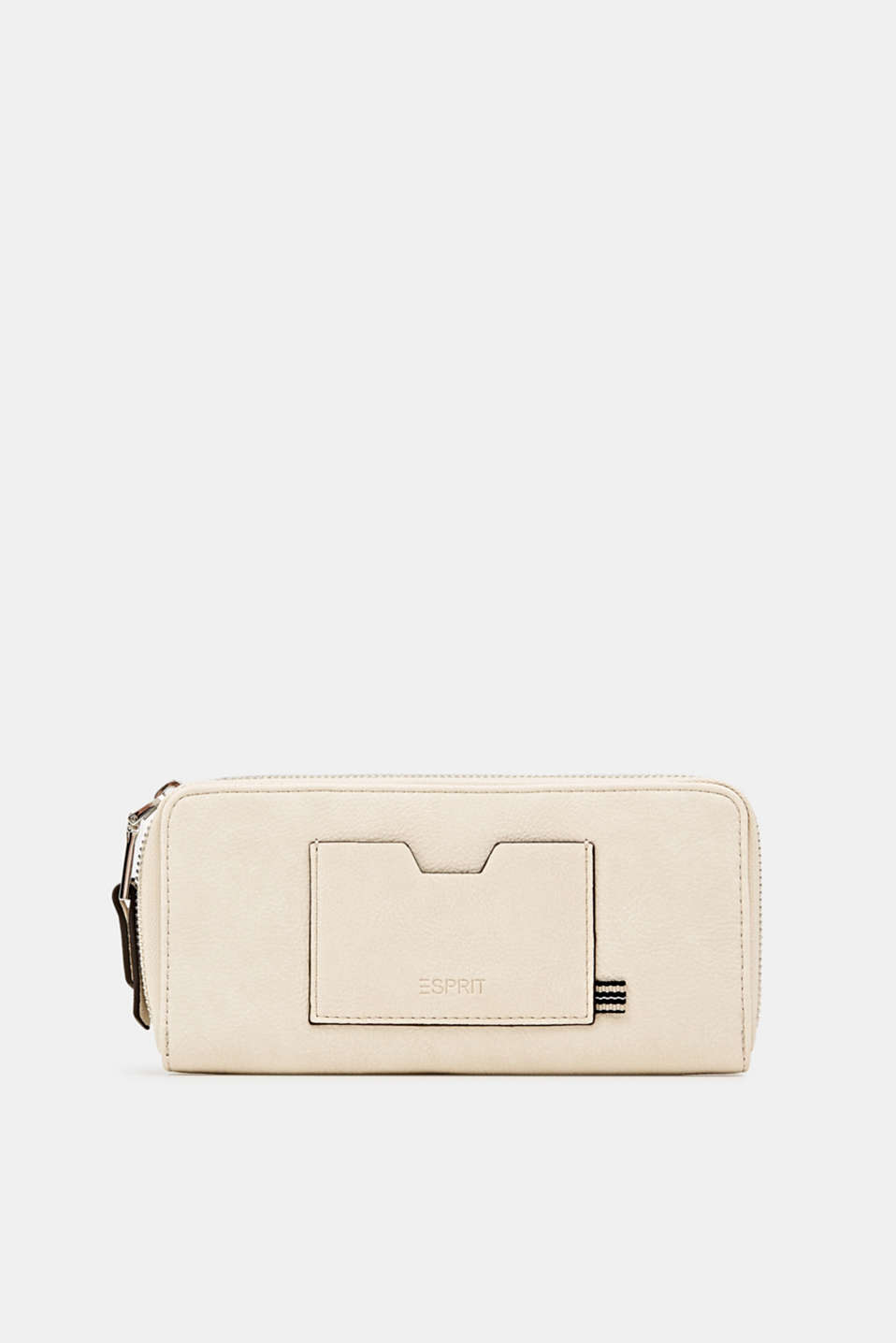 Faux leather purse, CREAM BEIGE, detail image number 0