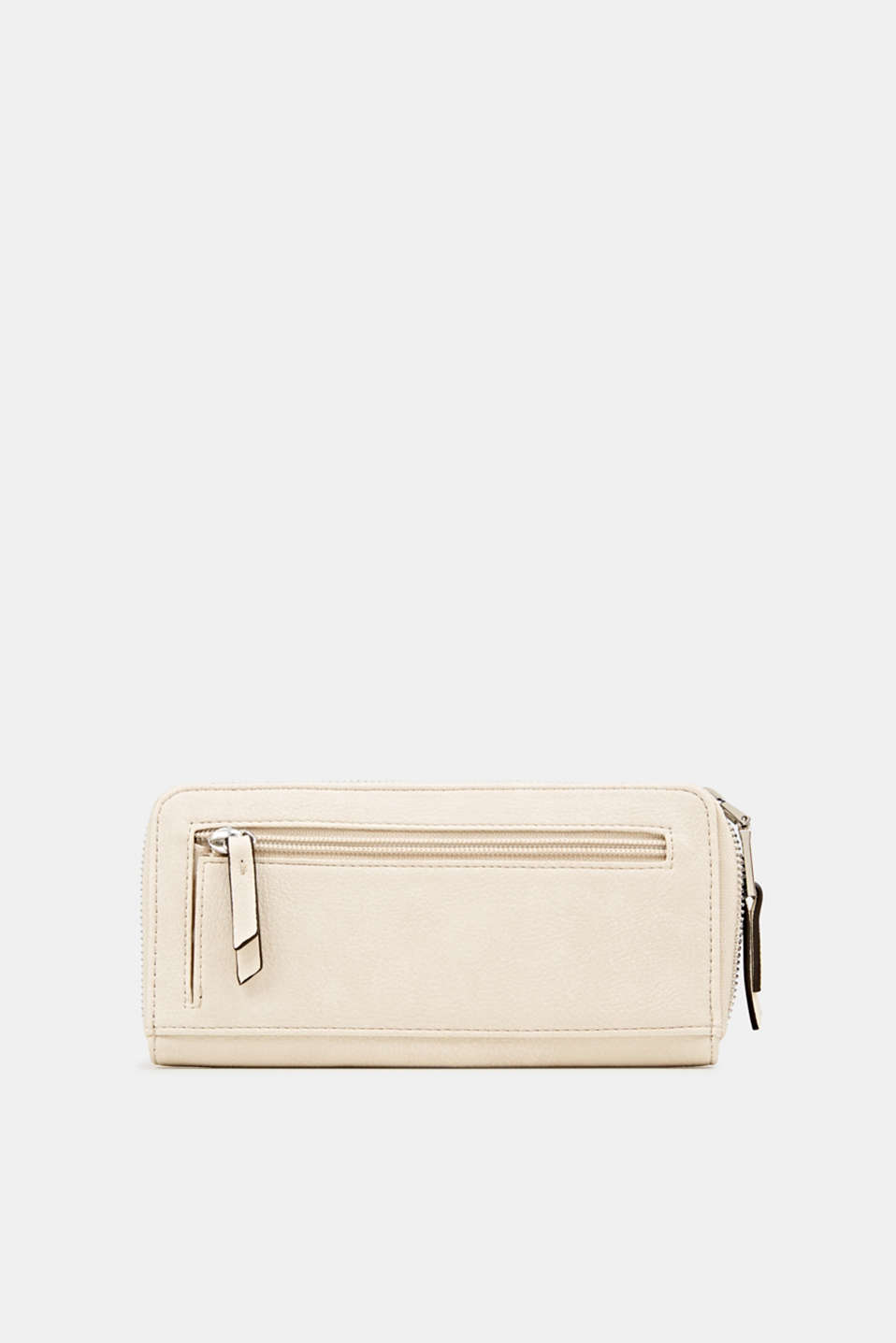 Faux leather purse, CREAM BEIGE, detail image number 2