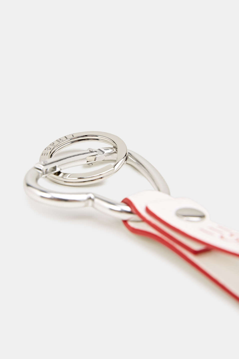 Keyring with lobster claw clasp, OFF WHITE, detail image number 1